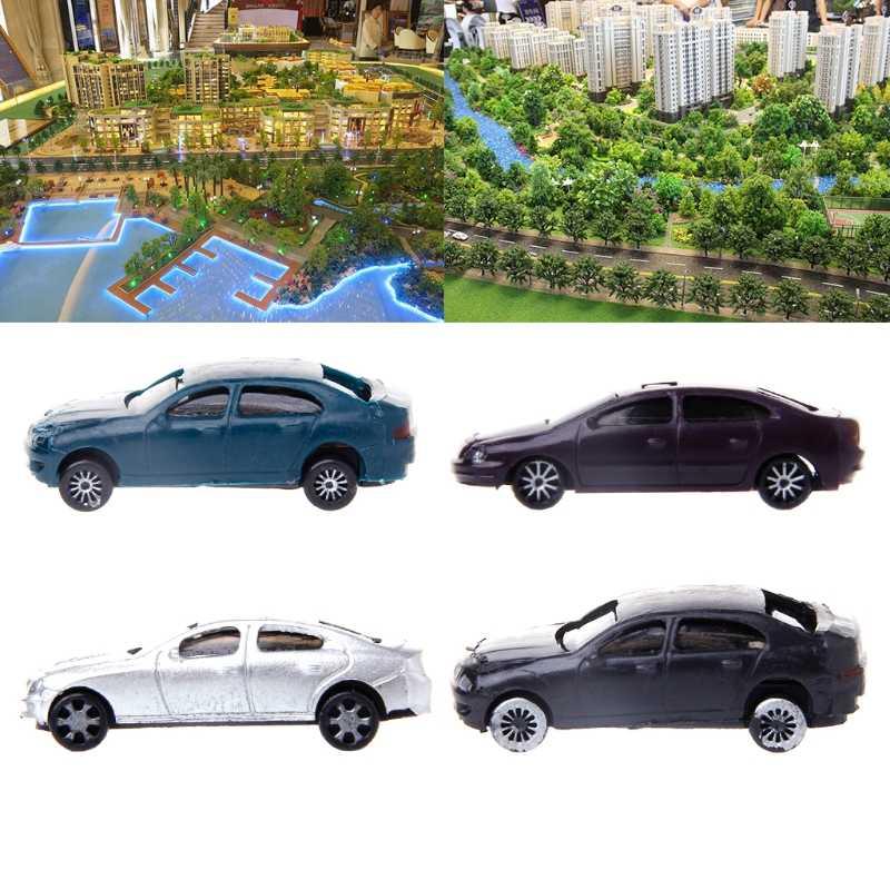 Nowy 10x1: 100 malowane modele samochodów układ budynku HO skala modelu budynku zestawy zabawek najlepszy prezent dla dziecka dzieci