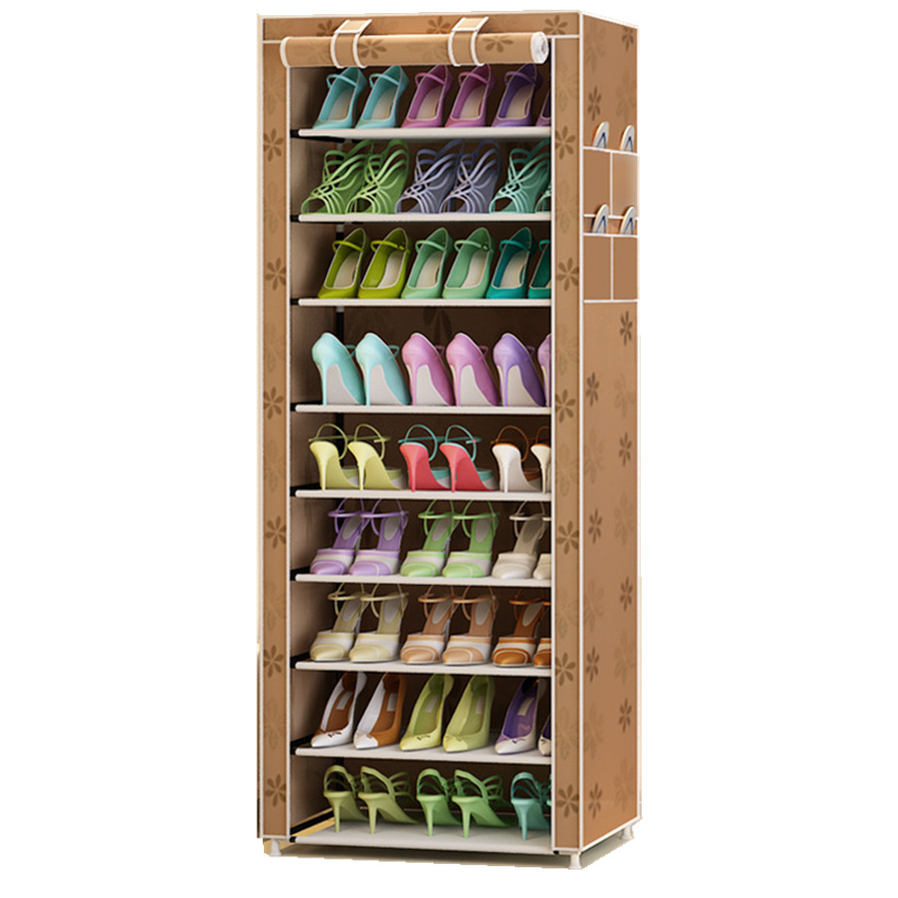 9 Tier Oxford Shoe <font><b>Cabinet</b></font> Shoes Racks Storage Large Capacity Home Furniture