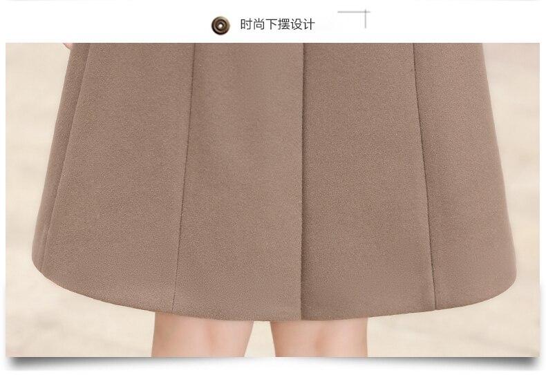 Outerwear Overcoat Autumn Jacket Casual Women New Fashion Long Woolen Coat Single Breasted Slim Type Female Winter Wool Coats 15
