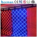 Leeman Flexible LED Curtain Display/soft video background led curtain, transparent led curtain display mesh screen panel