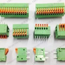 10 шт. kf141R-2.54mm2/3/4/5/6/7/8/9 P шаг 2,54 мм клеммы прямые булавки вертикальный Весна pcb клеммы разъема
