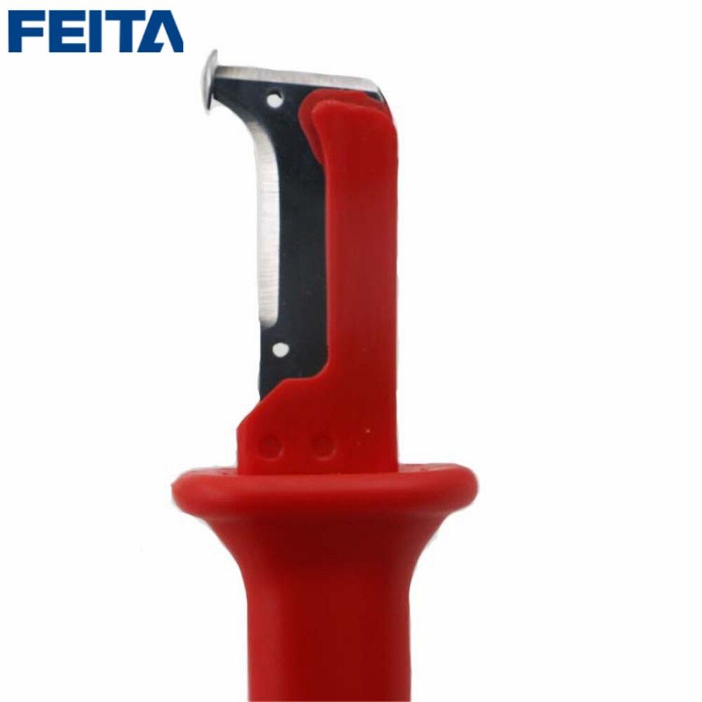 FEITA 1 pcs Rouge Allemand Type Électrique Isolation Câble Décapage Couteau Pour BRICOLAGE Maison Rénovation