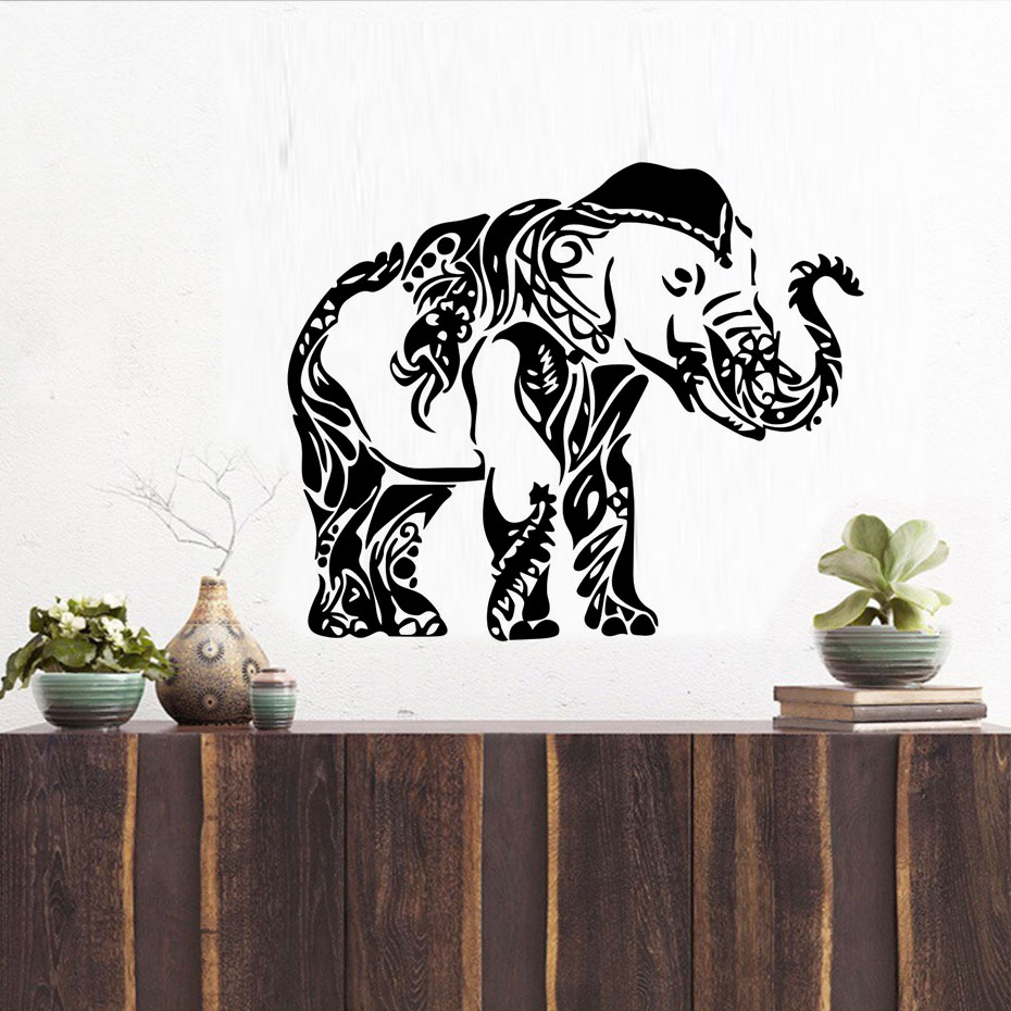 online buy wholesale indian room designs from china indian room vinyl decal stickers ganesha wall decals indian elephant animals removable home design art mural living room