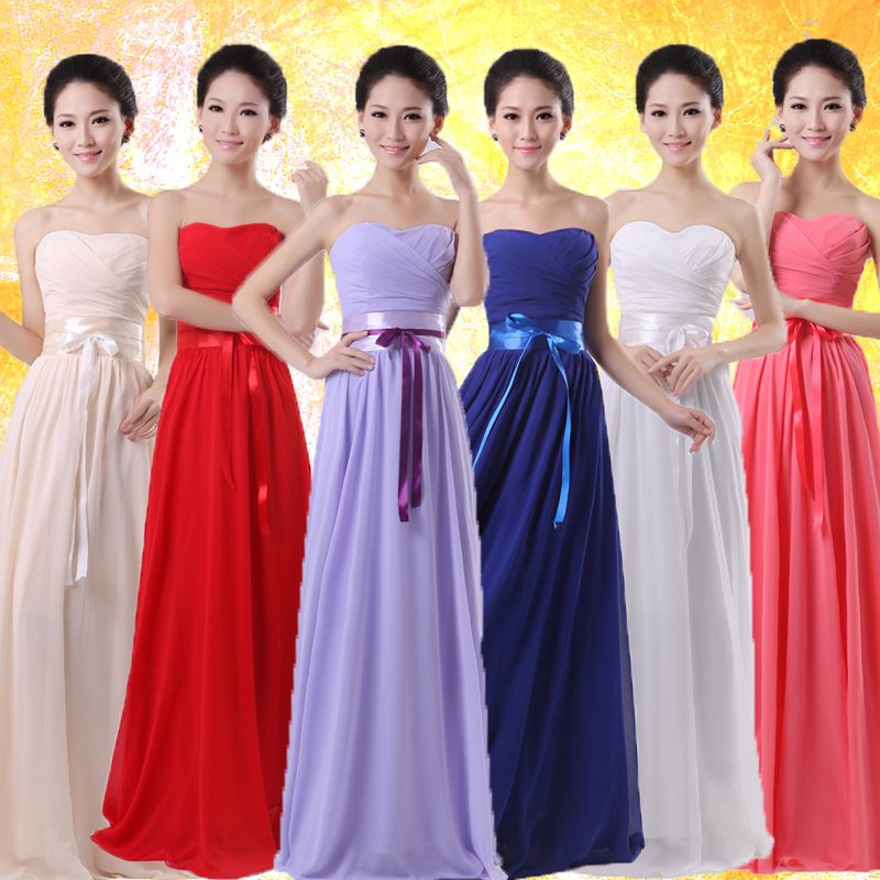 1e42086fe090 Convertible Multi Color Chiffon Bridesmaid Dresses Long Maid of Honor Dress  Pink Dress Wedding Vestidos de ...
