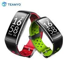 Teamyo Q8 открытый смарт-браслет монитор сердечного ритма фитнес-трекер Смарт часы с будильником Facebook Twitter напоминание