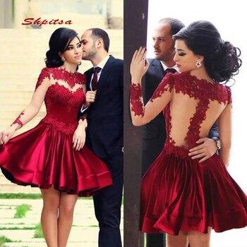 1248a5e14b2d1db Бордовый короткие кружевные платья для возвращения домой мини для женщин;  Большие размеры 8th Класс для выпускного, коктейльной вечеринки по.