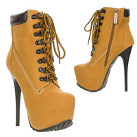 Free Shipping New Arrived 2014 Fashion LaceUp High Heel Inside Platform Stiletto Bootie Ankle Boots Hot