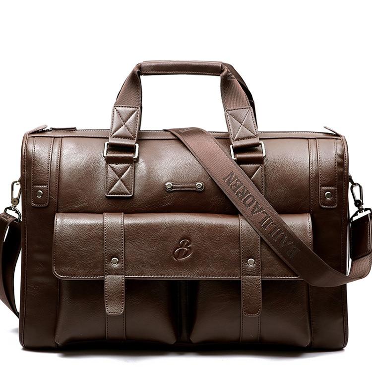 جديد الفاخرة سبليت جلدية الأعمال الرجال حقيبة الذكور حقيبة كتف الرجال حقيبة ساعي العلامة التجارية حمل حقيبة الكمبيوتر-في حقائب جلدية من حقائب وأمتعة على  مجموعة 1