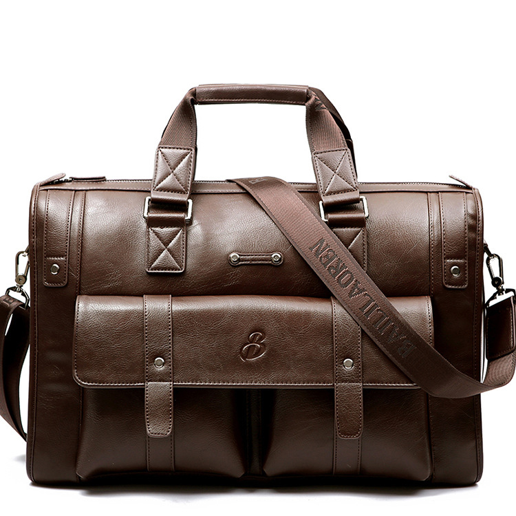 New Luxury Split Leather Business Men's Briefcase Male Shoulder Bag Men's Messenger Bag Brand Tote Computer Handbag