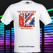 ff6377e9cac Men T shirt The Stone Roses Waterfall English Rock Band White funny t-shirt  novelty