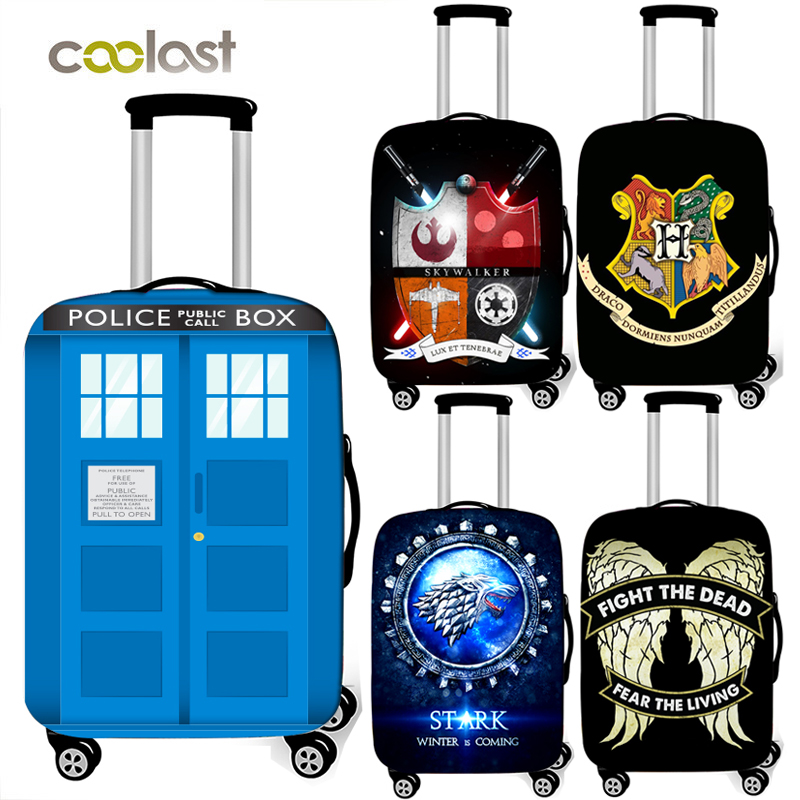 Telephone Booth Luggage Protective Cover For Travelling Elastic Baggage Cover Anti-dust Suitcase Cover Trolley Case Covers