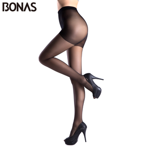 Image 2 - BONAS 6 sztuk/partia hurtownie kobiety rajstopy 15D Nylon Lady lato nowy wysokiej elastyczności elastan rajstopy kobiece bezszwowe miękkie rajstopy