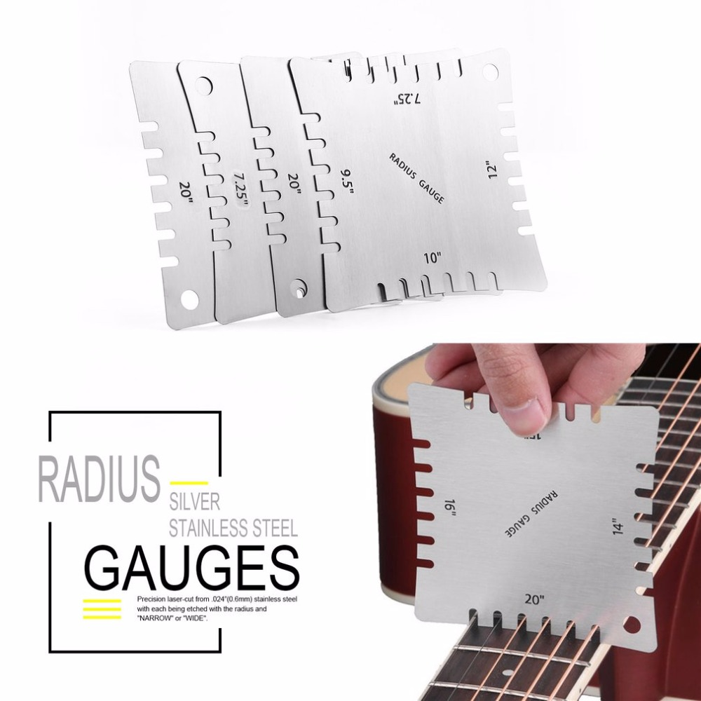 Sports & Entertainment Realistic Guitar Notched Radius Gauges For Measuring Fingerboard Radius Pack Of 4pcs Musical Instruments