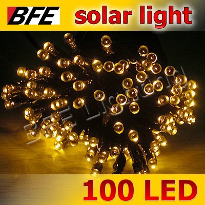 18m 100 LED Yellow Solar String Fairy Lights Garden Christmas Party Wedding Camping New Year