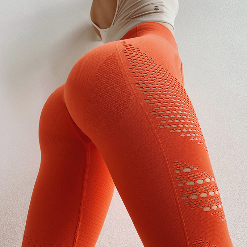 Oyoo Super Soft Skinny Seamless Yoga Leggings Sexy Pink Fitness Yoga Pants Women Push Up Workout Gym Leggings