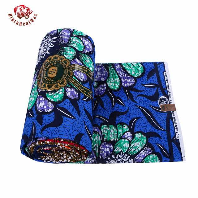 Wax Hollandais New Arrival  2018 Ankara Super Polyester Wax High Quality 6 yards  African Fabric for Party Dress pl569 5