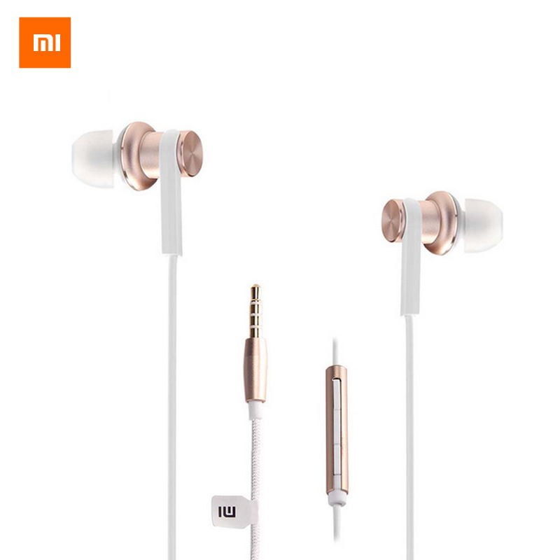 Xiaomi Mi IV Hybrid Earphones Wired Control In-Ear Stereo With Mic Earphone Silver Gold For Android iOS For MP3 PC awei q5i in ear earphones with mic gold