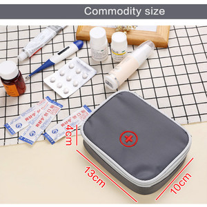 Image 5 - 13*10*4 cm Nette Mini Tragbare Medizin Tasche First Aid Kit Medical Notfall Kits Veranstalter Outdoor Haushalt pille Tasche