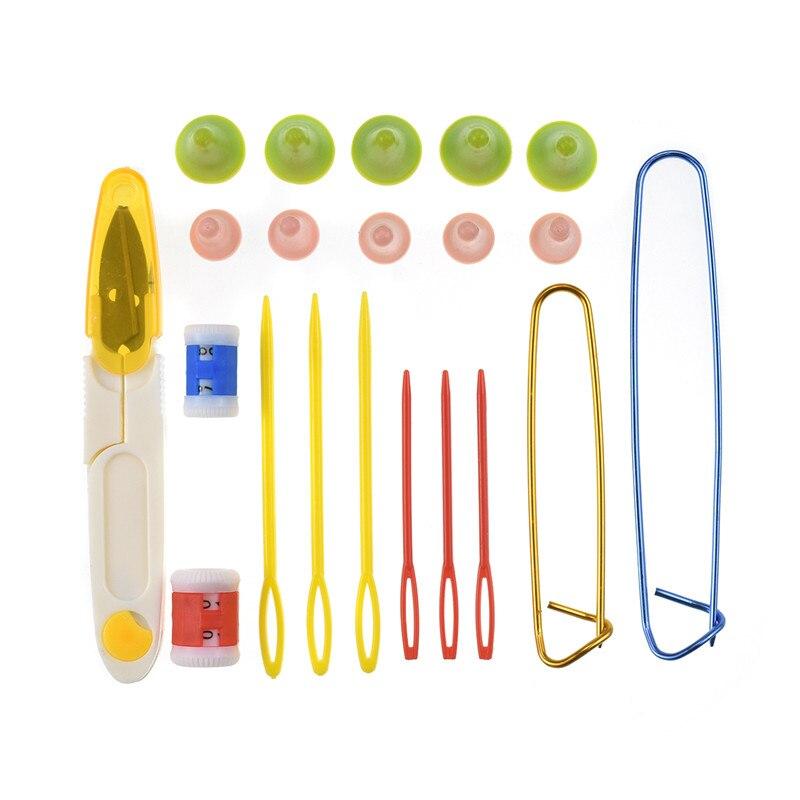 KOKNIT Bamboo Knitting Needles 36pcs Mix 2.0mm-10.0mm Single Point Yarn Weave Knitting Needle With Pink Bag and Sewing Accessory (14)