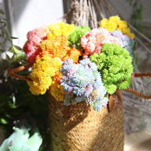 6 head large cauliflower artificial flowers rice fruit succulent wall decoration home wedding fake