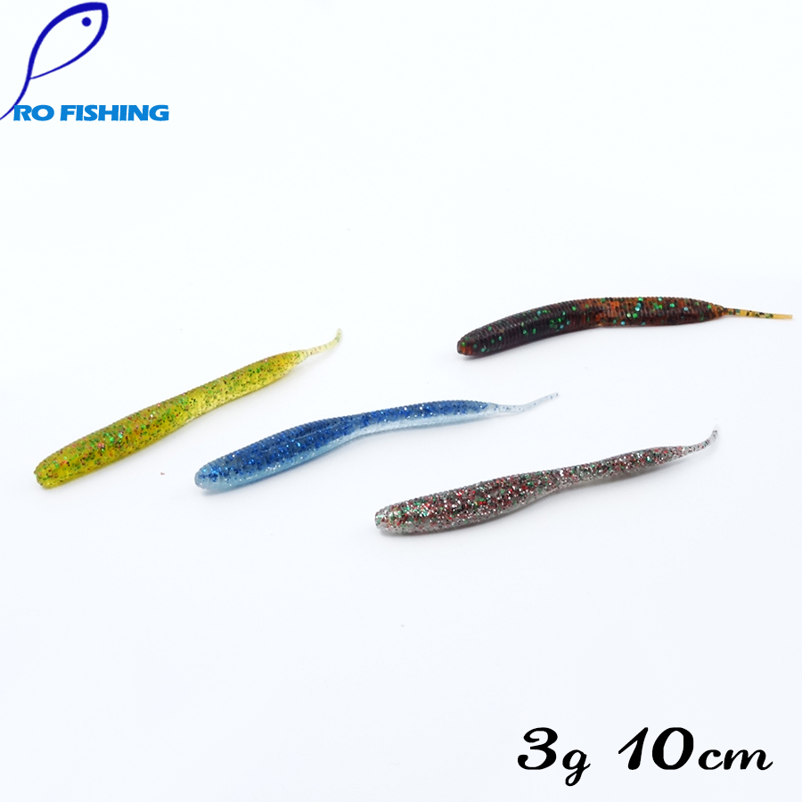 Artificial bait rubber lures 32pcs 10cm 3g silicone lure for Rubber fishing worms