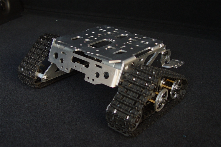 Metal Aluminum alloy Smart Robot tank chassis Platform kits crawler tracked vehicle Wali SUV SN1100 V2 261 tank chassis intelligent car crawler chassis crawler vehicle tank vehicle tank robot metal motor