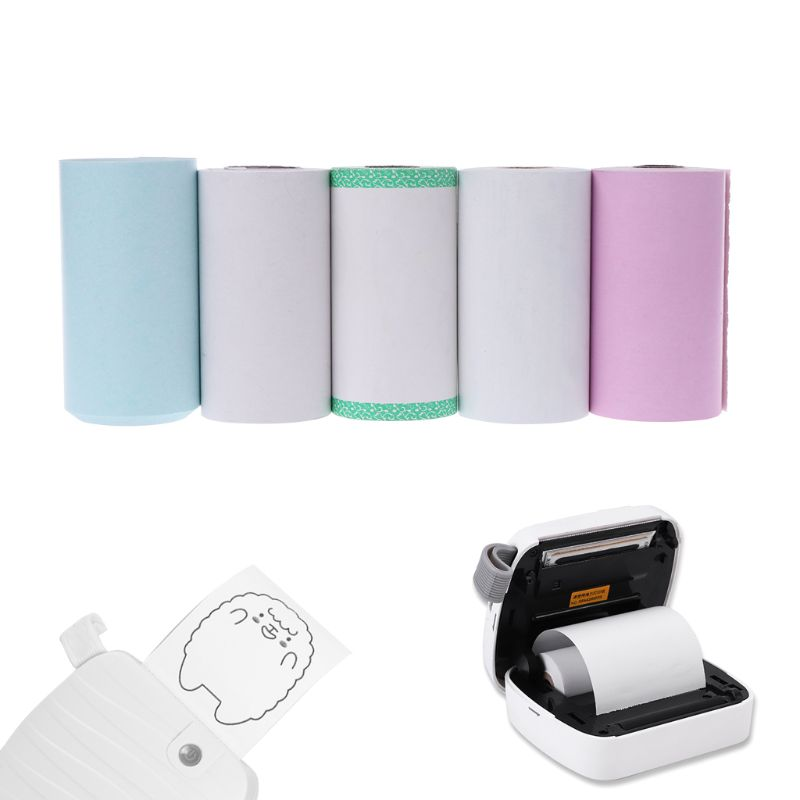 2019 New For Photo Paper Mini Printable Sticker Roll Thermal Printers Clear Printing Smudge-Proof Portable