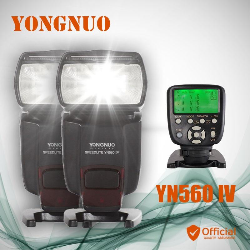 2*Yongnuo YN560 IV 2.4G Wireless Speedlite Flash+Flash Controller For Canon EOS 5D 5D2 MARK III 6D 1D 1DS I II IV 7D 60D 50D 30D 2 4g wireless timer remote control shutter release for canon 1dx 1ds 5ds 6d 7d 50d 40d 5d4 5d3 5d mark iv iii 6d mark ii rs 80n3