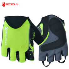 BOODUN Summer Breathable Cycling Gloves Half Finger with SBR Pad Bicycle Bike Racing Sport Mountain MTB Road Guantes Ciclismo