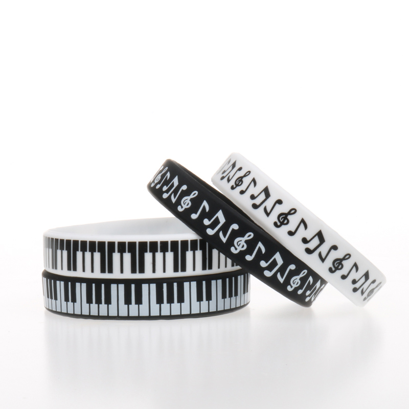 Music Children Piano Parts Musical Notes Symbol Silicone Bracelets