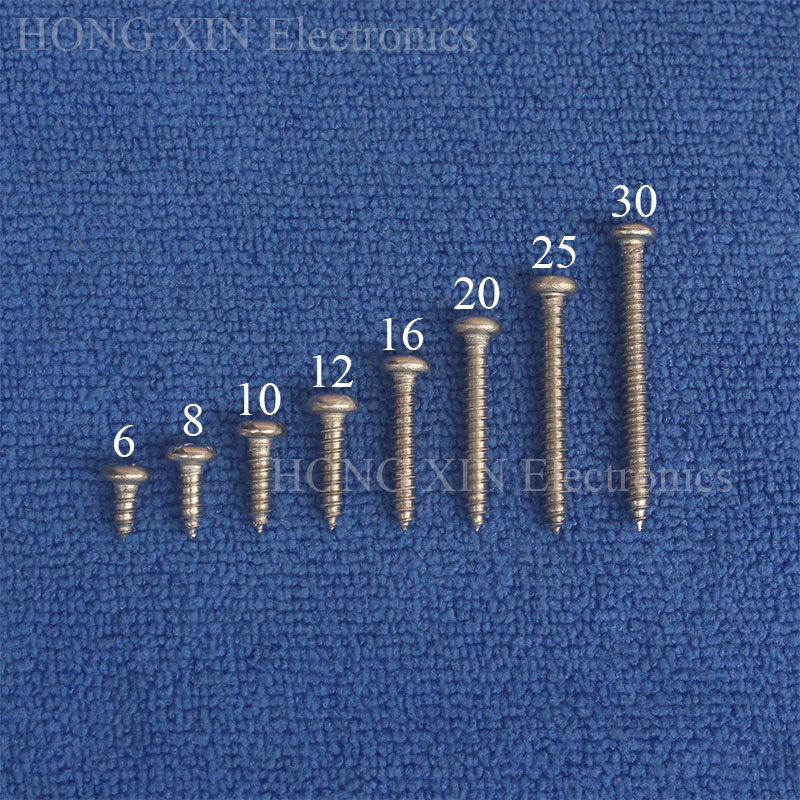 200pcs M3 3mm Stainless Steel Phillips Pan Head Self Tapping Screws Assortment Wood screw bolt in Screws from Home Improvement