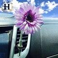 Purificador de ar Do Carro Decoração de Interiores deco Carro Purificadores de Ar Do Carro Auto Clipe de vidro Vaso Bud KIT Para Qualquer Saída De Ar estilo margarida flor