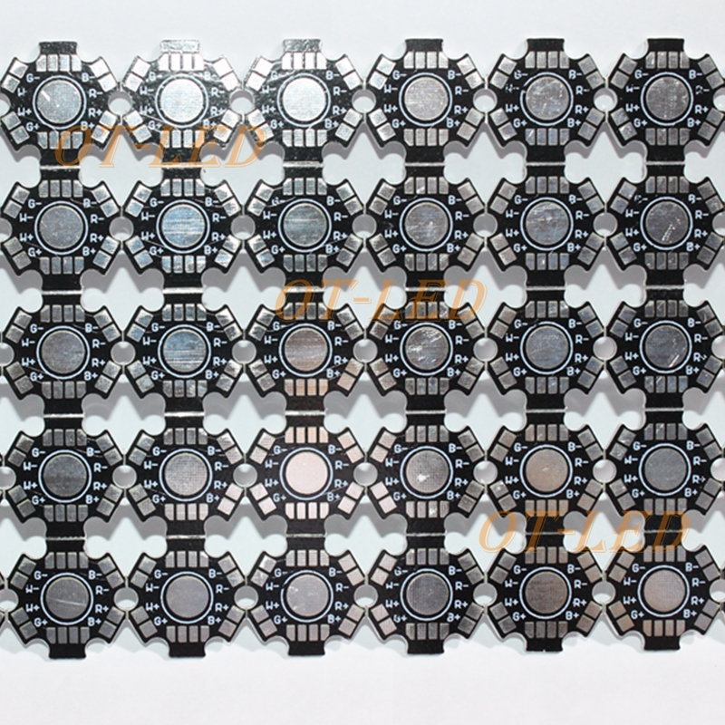 4W 12W RGBW LED Lamp PCB Board, 20mm LED Aluminum Base plate for high power LED Emitter 1pcs ledengin lzp rgbw dome lens 80w hight power led emitter lamp light blub led chip with 28mm pcb heatsink page 11