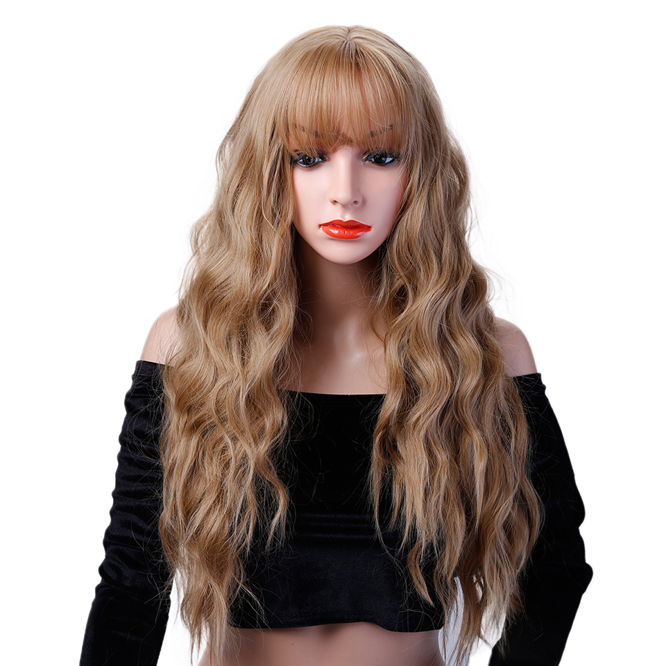 DIFEI Long Wig Synthetic Lace Front Wig Heat Resistant Natural Hairline Hair Wigs For Women ...