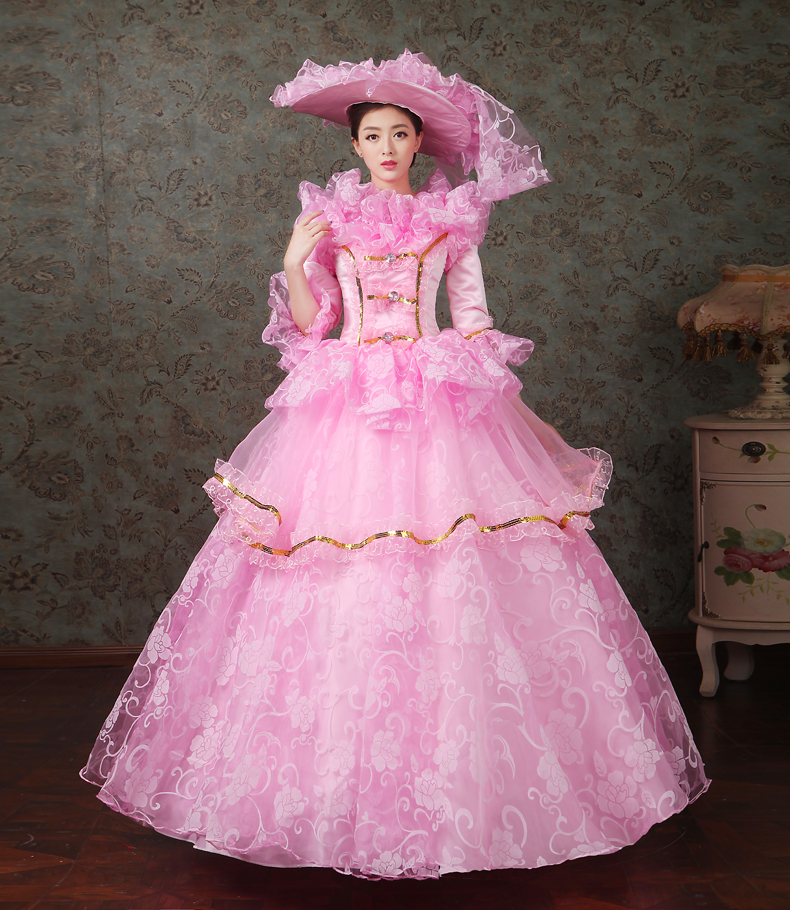 18th Century Marie Antoinette Belle Dress Wedding  Rococo Princess Prom Gowns