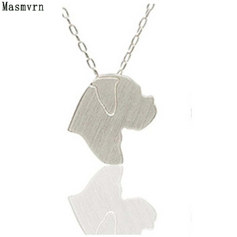 30pcs Boxer Discontinued Silver Charm Necklace Jewelry Pet Pendants Necklaces Memorial Dog Jewelry Gift Dog Lovers For Women Men
