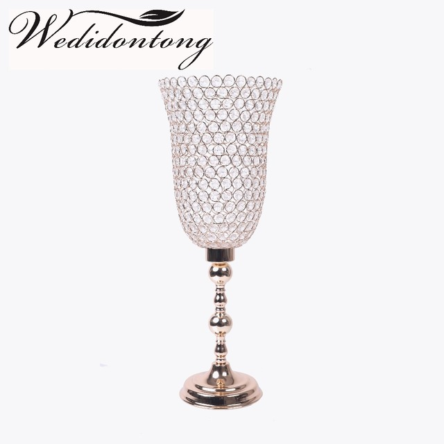 Wholesale Gold Pillar Candle Holders Wedding Candlesticks Tealight