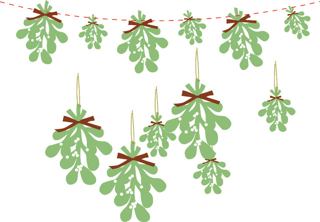 paper mistletoe christmas garland hanging decoration christmas ornament unique gift - Mistletoe Christmas