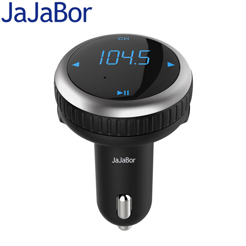 JaJaBor Car FM Transmitter MP3 Music Audio Player Bluetooth Car Kit Handsfree Voltage Detection 5V 2.1A Dual USB Car Charger