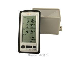 Image 1 - Wireless rain meter rain gauge w/ thermometer, Weather Station for indoor/outdoor temperature, temperature recorder