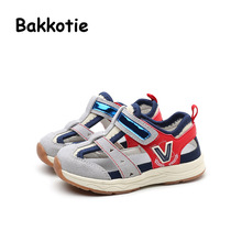 Bakkotie 2017 New Fashion Summer Baby Boy Casual Shoe Blue Genuine Leather Army Green Anti kick Leisure First Walker Girl Gray