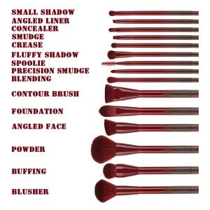 Image 5 - Jessup Brushes Winered 15pcs Makeup Brushes Set Powder Foundation Eyeshadow Eyeliner Lip Contour Concealer  T251