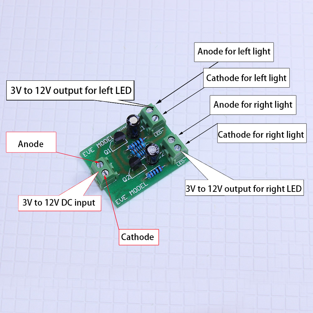 Pcb006 1pc Compact Circuit Board To Make The Crossing Signals Flash Two Led Flasher Uses Any Dc Supply From 3v 12v Rate Aeproductgetsubject