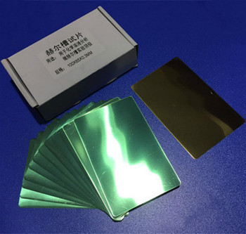 Hall Groove Electroplating Brass Cathode Plate Special For Hull Cell Testing Experiment Cathode Single Coated 100*65*0.3mm