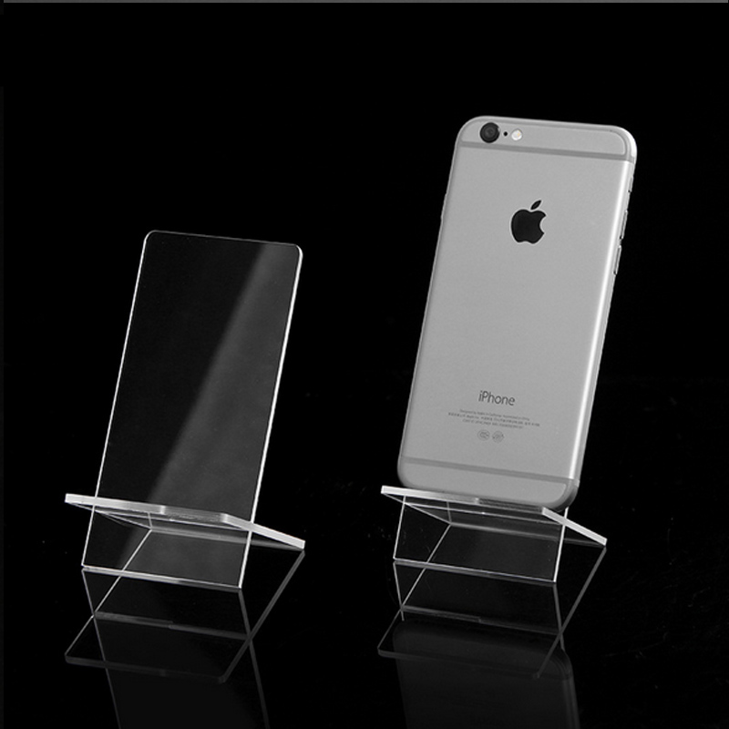 hot selling Clear Acrylic 1 Layer Cross Ornaments Display Shelf Mobile Cellphone Wallet Sun Glasses Rack Jewelry Display Shelf
