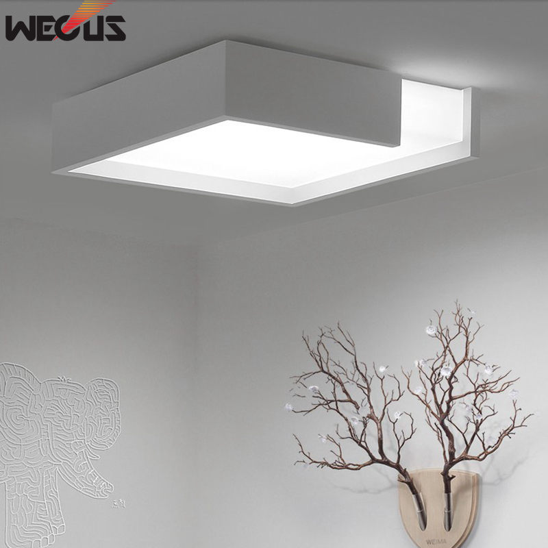 купить (WECUS) Modern LED Ceiling Light Lighting Fixture Lamp Surface Mount Living Room Bedroom Ceiling Light по цене 1810.77 рублей
