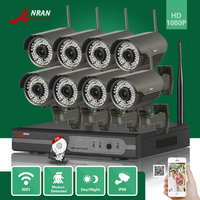ANRAN P2P 8CH 1080P HDMI WIFI NVR 3TB HDD 2 8 12MM 78 IR Outdoor 2MP