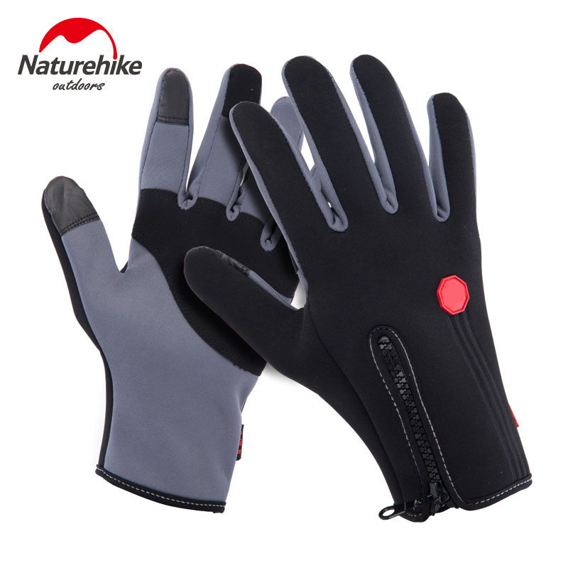 Naturehike factory sell winter outdoor sports warm fleece gloves for hiking climbing tactical cycling loycra touch screen gloves