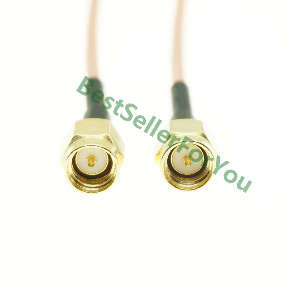 40in RP TNC TO N MALE PLUG COAX  PIGTAIL JUMPER CABE RG58 MADE IN USA