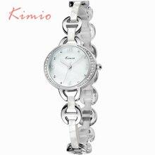 KIMIO Oval Dial Pulsera de Cuarzo de la Venda de reloj Para Damas Elegantes Diamantes de Cristal montre femme 2016 Exquisita de Las Mujeres Relojes de Pulsera